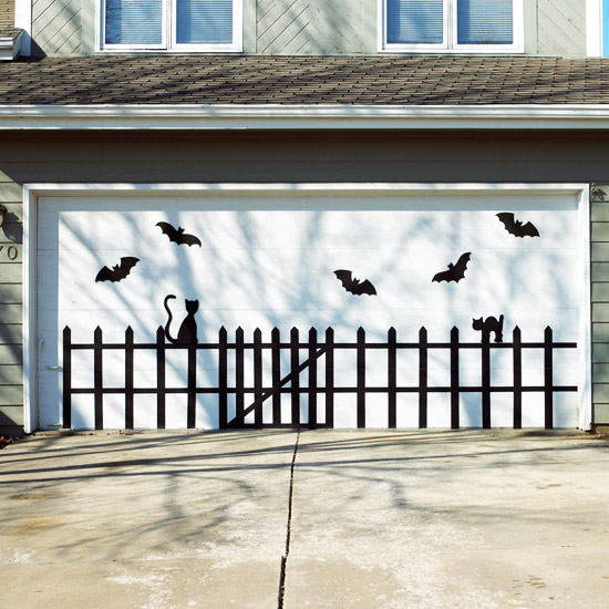 Bat-and-Cat Garage Door Design