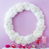 Make a Frosty Wreath from Pom-Poms