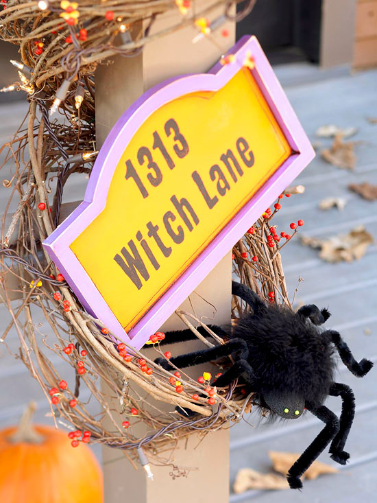 Create a Witch Lane Sign