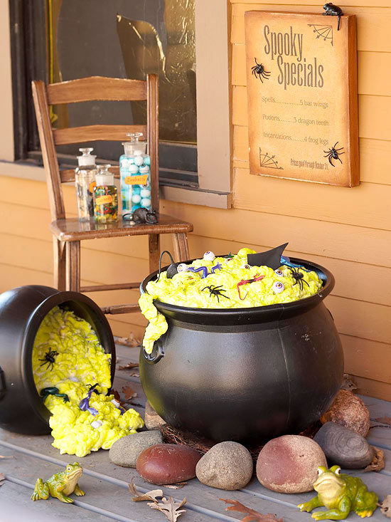Easy bubbling cauldrons for Decoration exterieur halloween
