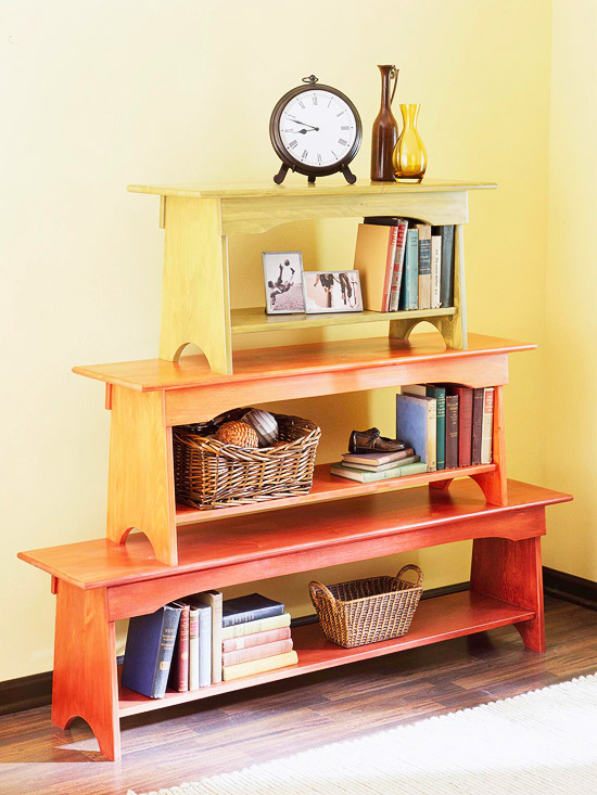 How to Make a Stacked Bench Bookcase