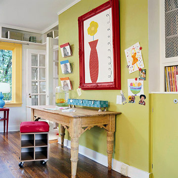 Colorful Home Office for the Whole Family