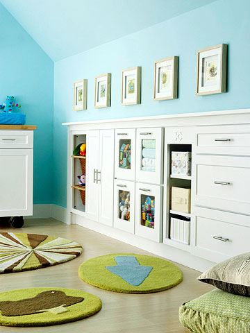Kitchen Cabinets = Kids' Room Storage