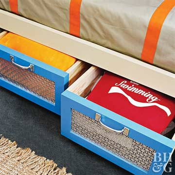 DIY Storage for Kid's Rooms