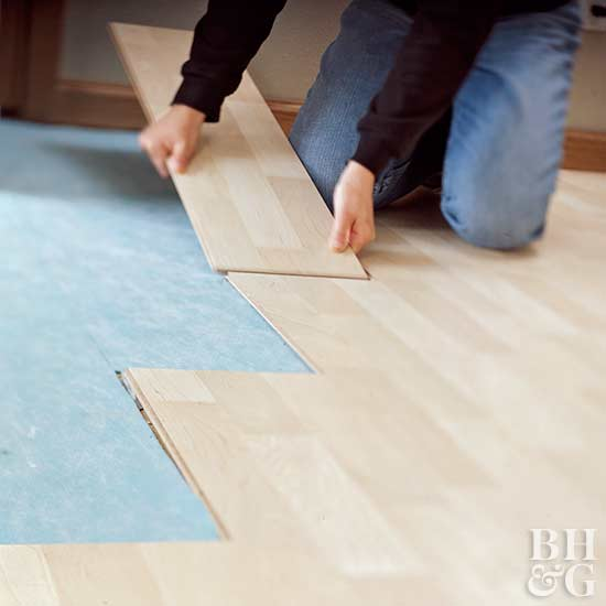 Glueless Laminate Flooring trafficmaster embossed alameda hickory 7 mm thick x 7 34 in wide x 50 58 in length laminate flooring 66204 sq ft pallet hl707 27 the home depot How To Install Laminate Wood Floor