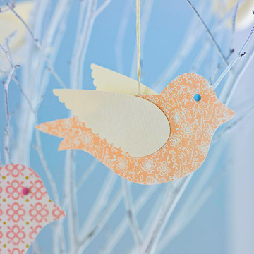 Paper Bird Ornament