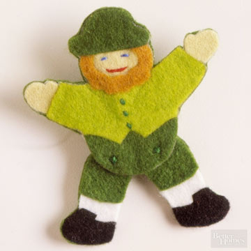DIY Leprechaun Pin