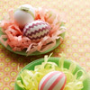 Ribbon and Rickrack Wrapped Eggs