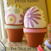 Flowerpot Eggs Display