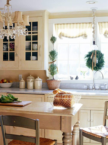 christmas decorating with sparkling white open kitchen shelves and stationary window decorating ideas