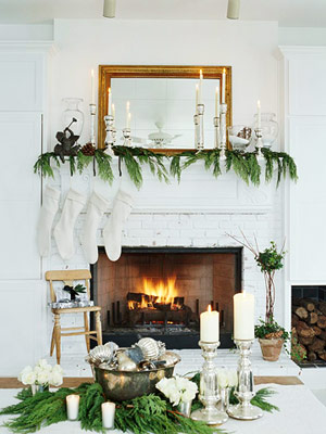 Add Warmth with Holiday Greenery