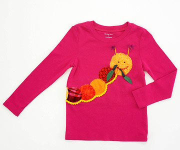 Caterpillar Applique Kid's T-Shirt