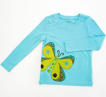 Butterfly Applique Kid's T-Shirt
