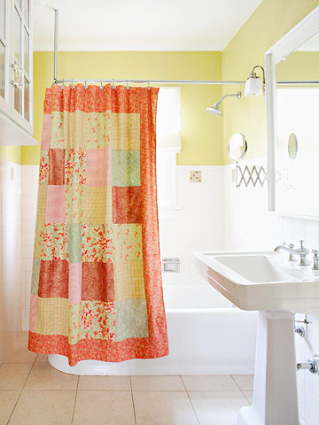 Cottage Patchwork Shower Curtain