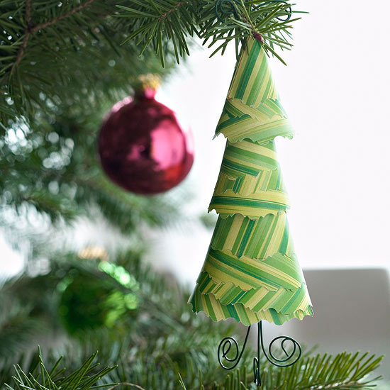 Paper Evergreen Tree Ornament