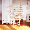 Wooden Chair with Off-White Gift Packages