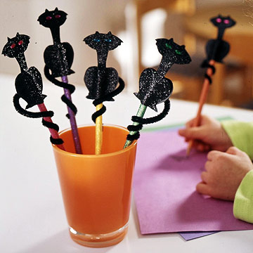 Make Black Cat Pencil Toppers