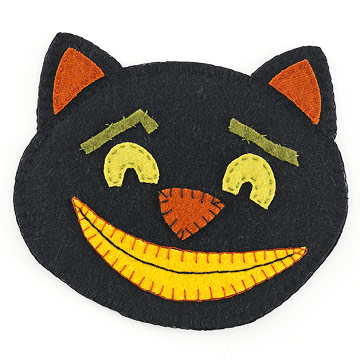 Make a Black Cat Pot Holder for Halloween