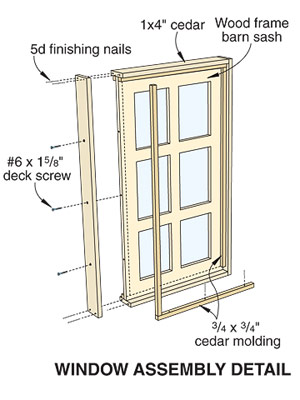 build the window frames although the window assemblies are installed later in the process building them first lets you space the beams and collar ties