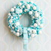 Create a Blue-and-White Christmas Wreath