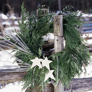 Wreaths for a Country Christmas