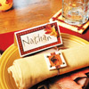 Scrapbooking Supply Place Card and Clay Napkin Ring