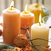 Seasonal Bounty Centerpiece with Candles
