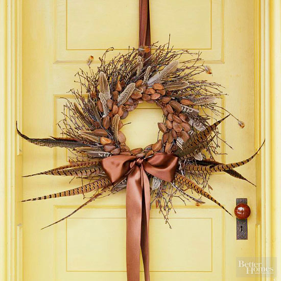 How to Make a Brilliantly Brown Wreath