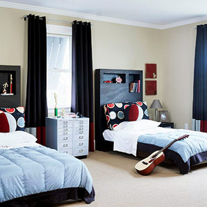 A Chic Boy's Room for Two