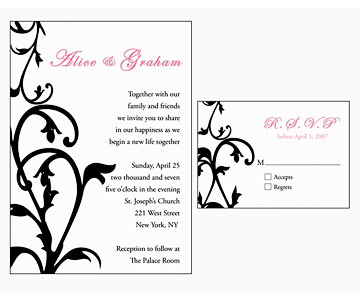 Beautiful Traditional Wedding Invitations