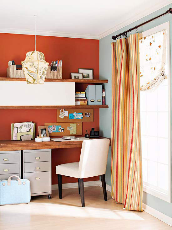 adobe red burnt red home office