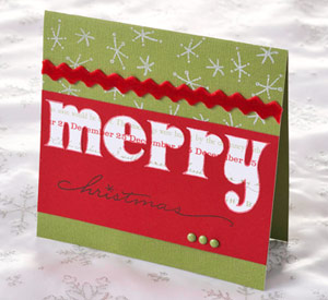 Handmade Christmas Cards Using Scrapbooking Supplies