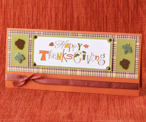 Easy Thanksgiving Cards and Table Decorations Made from Scrapbooking Supplies
