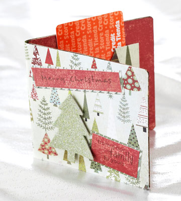 Christmas Gift-Card Holders Made from Scrapbooking Supplies