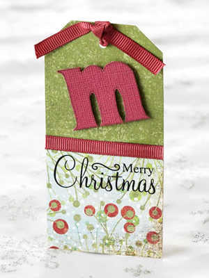 Easy Christmas Gift Tags Made from Scrapbooking Supplies