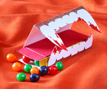 Make a Halloween Candy Box with Fangs