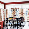 Warm Reds: Dining Room Perfection