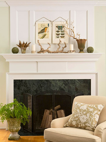 Get the Look: An Eclectic Mantel