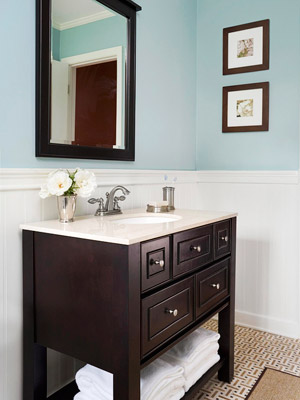 The Cabinet Style Vanity Is A Classic, Common Style Of Bathroom Vanity.  Although Its Solid Shape Takes Up The Most Space, Its Built In Drawers And  Concealed ...