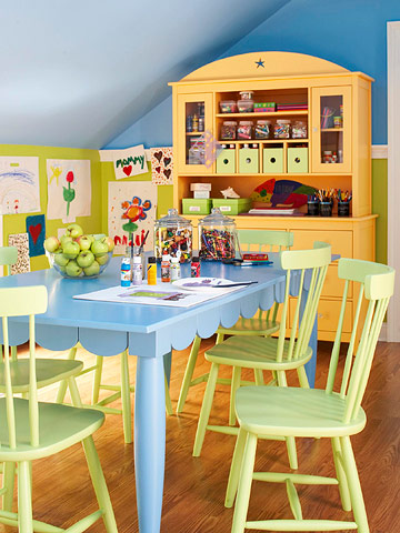 Colorful Playroom Makeover