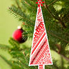 Patterned-Paper Christmas Tree Ornaments