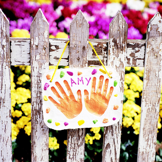 Handprint Garden Plaque