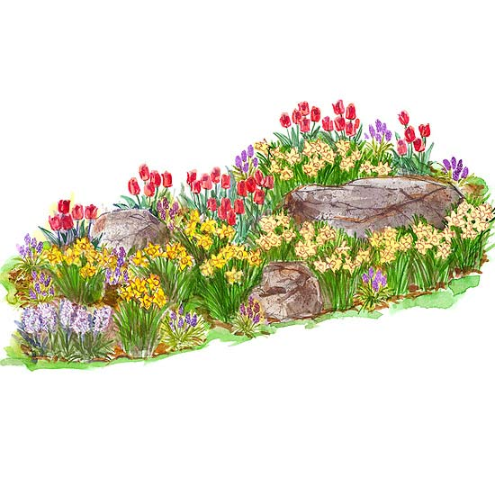 Bright spring garden plan for Spring garden designs