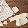 Lacy Crocheted Baby Outfit
