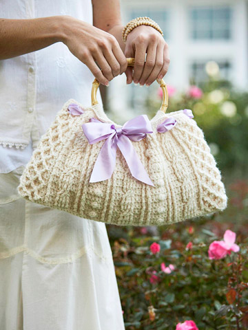 Ribbon-Weaved Handbag