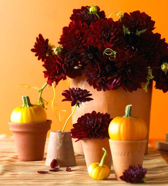 Decorative Dahlia Fall Centerpiece
