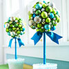 Glass Ball Topiaries