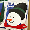 Cheerful Snowman Pillow