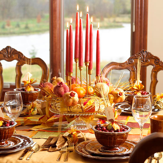 Create a Pomegranate Centerpiece for a Thanksgiving Table