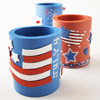 Custom Red, White, and Blue Cup Holders